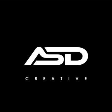 ASD Letter Initial Logo Design Template Vector Illustration