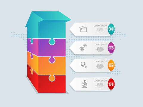 abstract arrow  isometric  timeline infographics 4 steps with world map for business and presentation