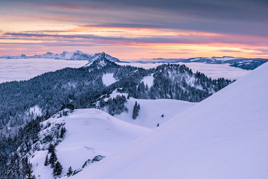 Sunset on Chartreuse Mountains