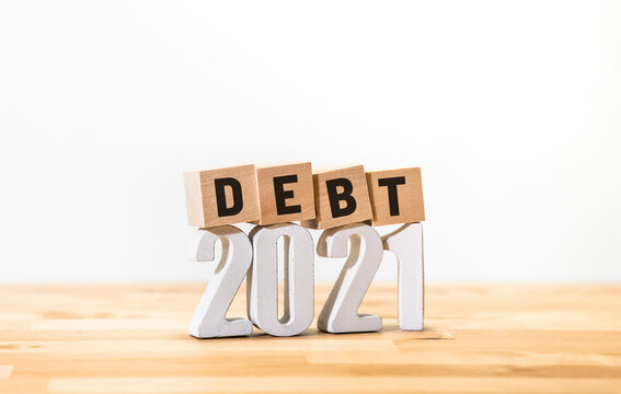 Business economy with debt of 2021 concepts,money investment