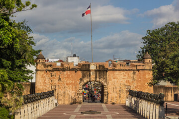 Puerta del Conde gate in Santo Domingo, capital of Dominican Republic.
