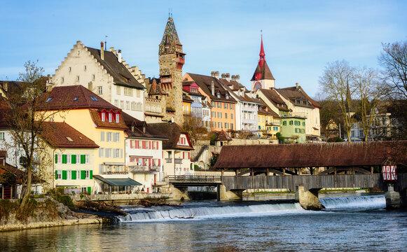 Bremgarten historical Old town, Aargau, Switzerland