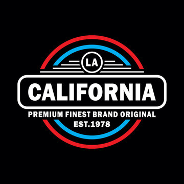 CALIFORNIA LOS ANGELES, typography graphic design, for t-shirt prints, vector illustration