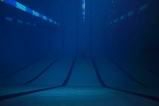 sports track pool view underwater landscape inside the pool background