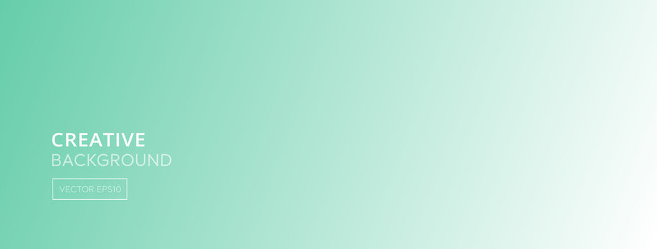 Abstract white green aquamarine gradient color banner background
