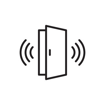 Wireless door outline icon vector automatic opening door modern entrance. For your web site design, logo, app, UI. illustration