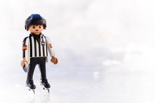 Lippstadt - Deutschland 11. Febraur 2021 Playmobil Schiedsrichter