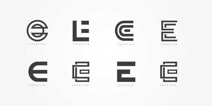 E logo symbol letter vector abjad