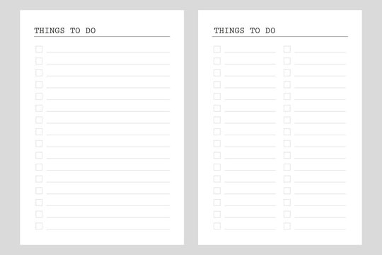 To do list, Planner pages  bullet journal