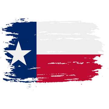 Texas grunge, damaged, scratch, vintage and old. Lone star state flag. Texas grunge flag with a texture. Symbol of the independent spirit of the state of Texas