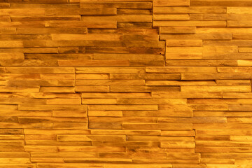 Wall cladding made from pieces of wood