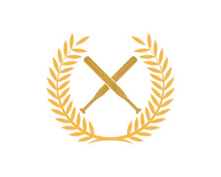 Baseball bats in the circle wheat logo