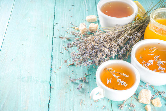Aromatic lavender tea cup