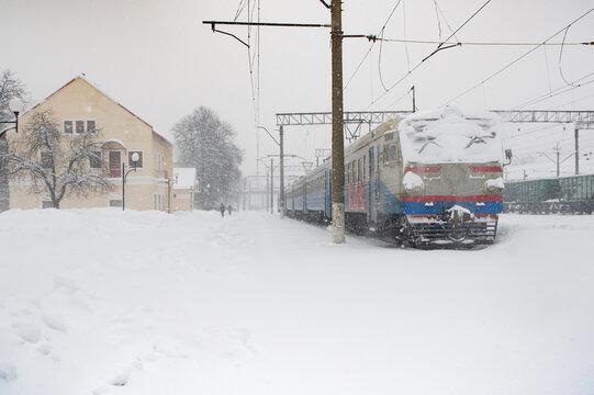 ukrainian train station