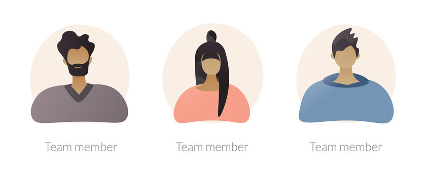 User personal profile characters set for social network. Employees, corporate male and female workers portraits. Team member, avatar metaphors. Vector isolated concept metaphor illustrations