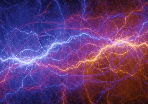 Cool abstract lightning, fire and ice energy