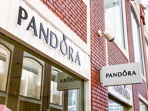 Pandora store in modern shopping mall