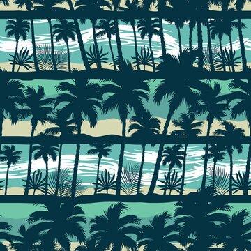 Tropical vintage seamless pattern