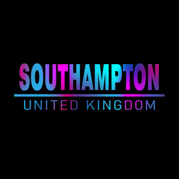 Southampton. Colorful typography text banner. Vector the word southampton design. Can be used to logo, card, poster, heading and beautiful title