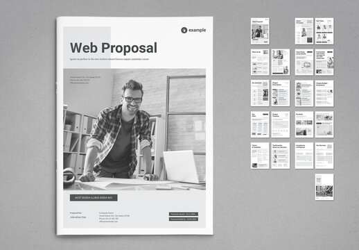 Business Proposal in Black and White