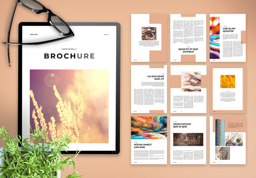 Minimal and Clean Digital Brochure with Peach Accents