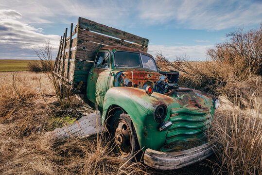 Stuck In The Mud- Abandoned Truck In Almira, Washington