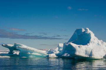 Norway. Svalbard. Hinlopenstretet Strait. Drift ice.