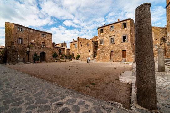 buildings of the village of Civita di Bagnoregio, Lazio, Italy