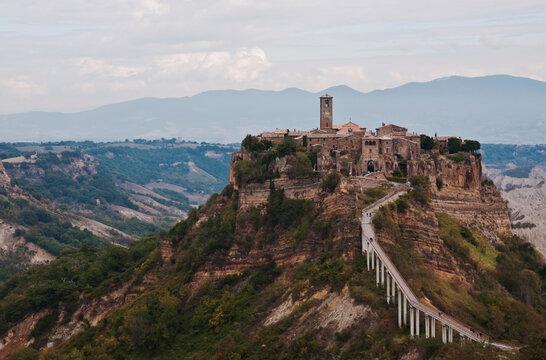 View of the village of Civita di Bagnoregio, Lazio, Italy