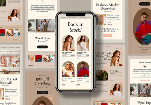 Fashion Email Newsletter Layout