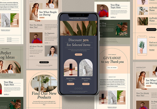 Aesthetic Email Newsletter Layout