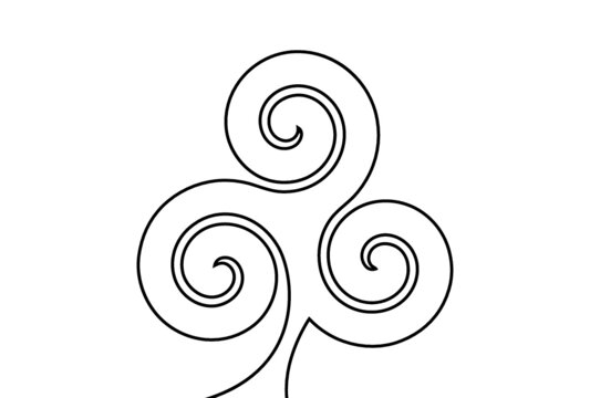 Creative vector celtic. One line style illustration