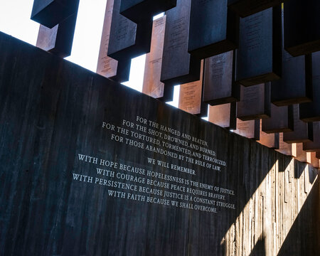 Inscription within the National Memorial for Peace and Justice