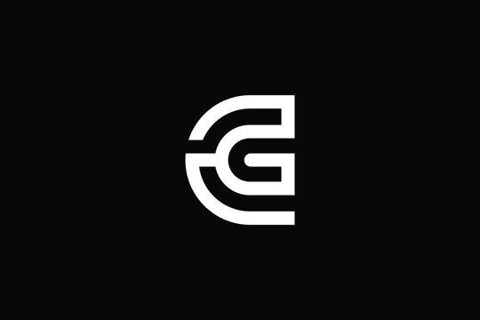 CG logo letter design on luxury background. GC logo monogram initials letter concept. CG icon logo design. GC elegant and Professional letter icon design on black background. C G GC CG