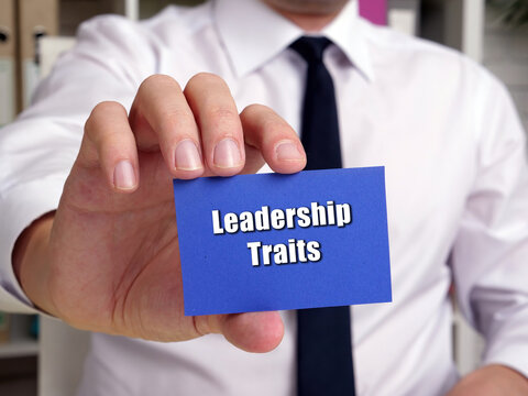 Conceptual photo about Leadership Traits with handwritten text.