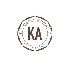 Obraz Initial Letter KA Luxury Boutique Logo, Vintage Logo Design. - fototapety do salonu