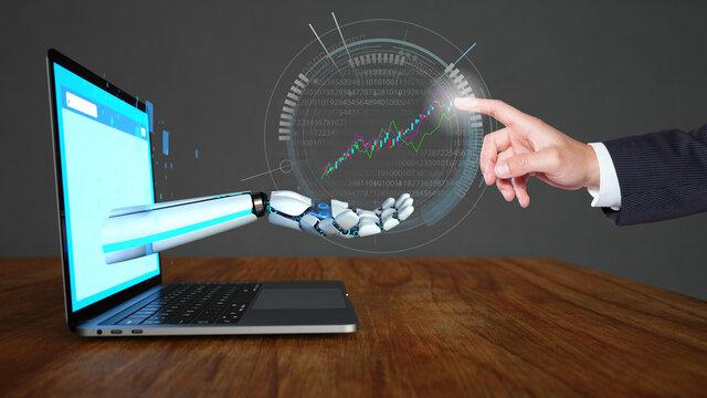 AI Trader Robot Businessman