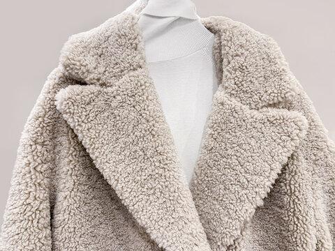 Detail of faux fur