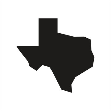 texas map logo isolated. design template, vector illustration.