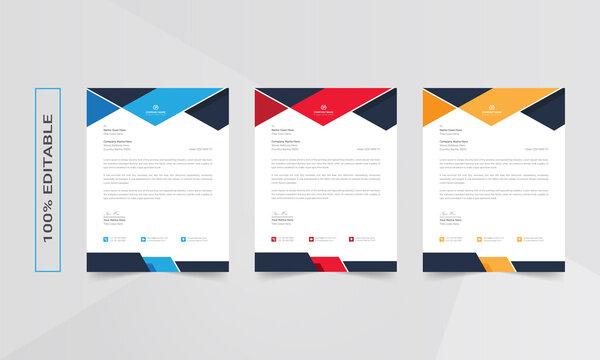 Letterhead design template, business letterhead, letterhead red, letterhead template, simple letterhead, corporate letterhead, flyer layout
