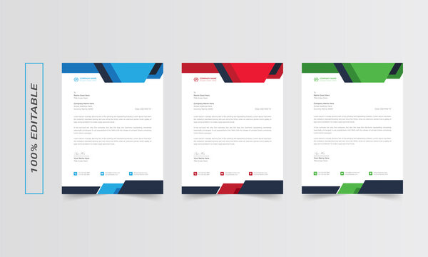 Letterhead design template, business letterhead, letterhead red, letterhead template, simple letterhead, corporate letterhead, flyer layout, modern corporate letterhead design template