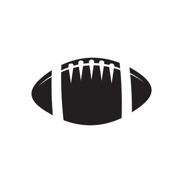 Ball of American football sport logo design template