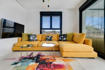 Pokój Mieszkanie Dom Wnętrze Interior Kanapa Wystrój Design Okna