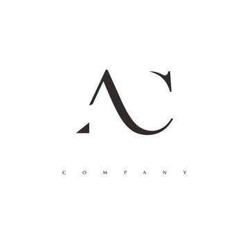 monogram AC logo design vector