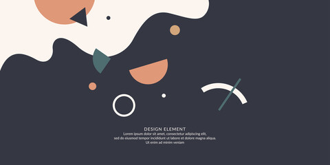 Obraz Trendy abstract background. Composition of geometric forms. Modern vector illustration - fototapety do salonu