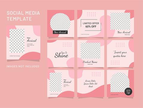 design template puzzle fashion women post
