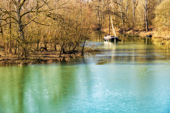 Tauwetter im Bereich des Naturschutzgebietes Siegaue bei Bonn (Diescholl)
