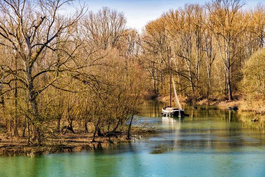 Tauendes Eis im Bereich des Naturschutzgebietes Siegaue bei Bonn (Diescholl)