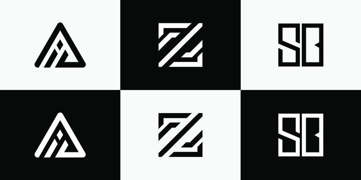 Initial bundle logo design template