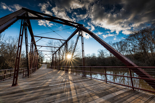 Bridge at Glendale Mill Park in Spartanburg, SC -- Public park made on site of abandoned cotton mill